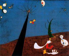 Dialogo de insectos, Huile de Joan Miro (1893-1937, Spain)