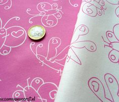 Pink Butterfly Fabric.