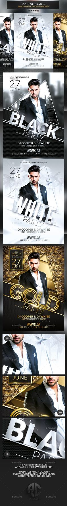 Prestige Pack | Psd Flyer Templates  'Prestige Pack Flyer Templates' on #EnvatoMarket by @RomeCreation #graphicriver graphicriver.net/... … #templates #black #gold #white #classy #event #flyer #prestige #envato #pack #stock #poster #creative #celebrate #affair #dj #romecreation