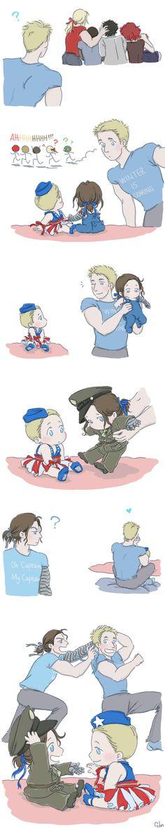 Steve and Bucky Babies: Ribbon 2 by SilasSamle on DeviantArt