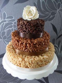 Wedding Cake Composed Of Cornflakes.