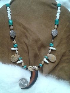 Bear Claw Necklace by spirithorsegems on Etsy, $80.00