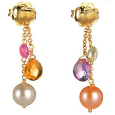Marco Bicego Paradise Mixed Stone Earrings with Pearls