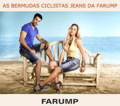 seguindo a tendência esportiva do verão 2013 a Farump disponibiliza em sua coleção bermudas jeans com modelagem estilo ciclista para homens e mulheres!