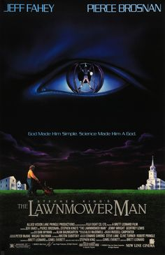 """The Lawnmower Man (1992) Vintage One-Sheet Movie Poster - 27"""" x 41"""""""