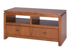 """At 48"""" wide, the low profile Oakbrook TV console is ideal for a wide screen television."""