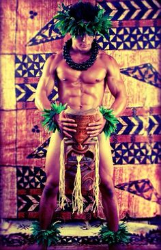 Hawaiian hunk.... I'm going to turns my babe into this! Yummy :D @ramon Grullon