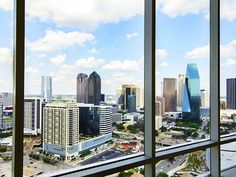 Big City Living in Uptown & Downtown Dallas | The chance of a lifetime— enjoy sky-high views of downtown Dallas from this luxury penthouse at  2430 Victory Park Lane 3203 #modern #condo #city #contemporary