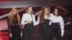 Fresh from their split with Syco, it's clear that Jesy, Jade, Perrie and Leigh-Anne are women on a mission. Little Mix Updates, Litte Mix, Show Reviews, Mixed Babies, Perrie Edwards, Meme Faces, Apple Music, Attitude, Kicks