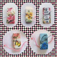Handmade Magnetic Needle Minders  www.DaintyDotsDecoupage.etsy.com £3.99 each plus postage  Will post worldwide More designs available