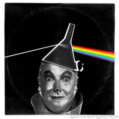 Pink Floyd Dark Side of the Moon Wizard of Oz Tinman Vinyl Mash Up Parody by Why… Pink Floyd Dark Side of the Moon Wizard of Oz Tinman Vinyl Mash Up Parody by Whythelongplayface … Vinyl Cover, Cover Art, Pink Floyd Art, Pink Floyd Dark Side, Moon Rock, Tin Man, Beastie Boys, Obi Wan, Wizard Of Oz