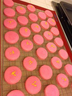 Lemon raspberry macarons! A sweet w/a little tart.