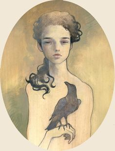 Tsuyoshi Oil on wood 8x10 Disquieting Muses - Copro Nason 2006 (jg) © Audrey Kawasaki 2004 - 2013