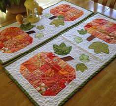 Looking for your next project? You're going to love Scrappy Pumpkin Table Runner Tutorial by designer Angie Tackett. Table Topper Patterns, Mug Rug Patterns, Quilt Patterns Free, Table Toppers, Free Pattern, Sewing Patterns, Placemat Patterns, Fall Patterns, Block Patterns