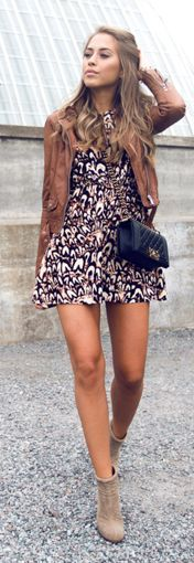 Fall Colors And Print Outfit Idea by Kenzas