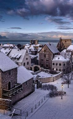 Visby, Gotland in winter, Sweden Places Around The World, Oh The Places You'll Go, Places To Travel, Travel Destinations, Places To Visit, Around The Worlds, Holiday Destinations, Sweden Stockholm, Saint Marin