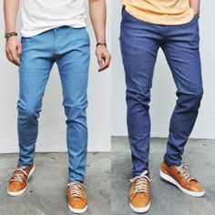 Euro Chic Slim Straight Pastel Denim #men #fashion #style #pants #EliteStyle
