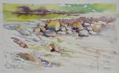 The impeded stream is the one that sings Watercolour on 300gm Arches Cold Pressed – 180 x 280mm Price $200.00 (USD)