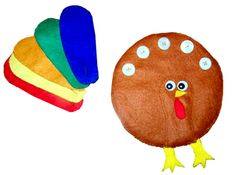 Felt turkey feather craft. Would be good for quiet book page