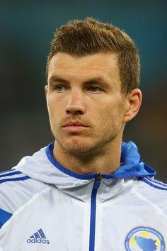 Edin Dzeko in Argentina v Bosnia-Herzegovina: Group F - 2014 FIFA World Cup…