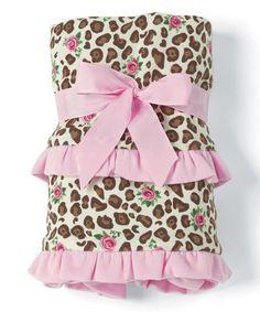 28'' x 34'' Pink Leopard Receiving Blanket #zulily #zulilyfinds