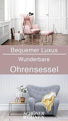 Von klassisch bis modern, von protzig bis dezent – eine Auswahl der unterschiedlichsten Ohrensessel. #sessel #wohnzimmer #bylassen #fritzhansen #armchair