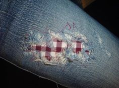 another way to patch holes in jeans.