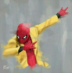 Spiderman dabbing