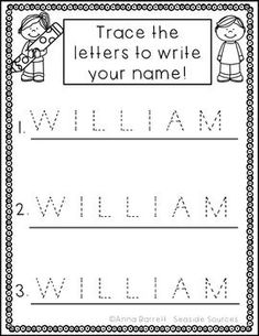 Custom Printables - My Name | Langue and literacy ...