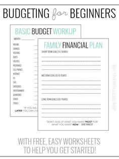 We've found these worksheets super helpful for sticking to a budget and pay off debt faster.