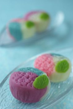 Hydrangeas in the rain - Japanese sweets (Wagashi)