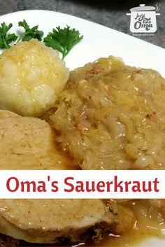 Delicious traditional German Sauerkraut, http://www.quick-german-recipes.com/recipe-for-sauerkraut.html, done the German way!
