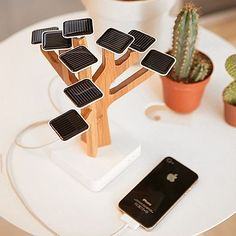 The Solar Suntree is a solar-powered charger for your mobile phone, iPod and other devices