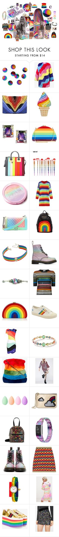 """She's A Rainbow"" by illuminatab on Polyvore featuring Umbra, Mira Mikati, Elena Ghisellini, Milly, Sophie Hulme, Betsey Johnson, INC International Concepts, Dr. Martens, Sonia Rykiel and Gola"