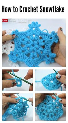 Puff Stitch Snowflake Ornament Crochet Video Tutorial