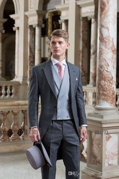 #gray #wedding #party #custommade #cheap #prom  #groomsmen #fit #for #OneButton #HOTSelling #NewSlim #WeddingSuits #GroomTuxedos #MenWeddingSuits #MenGroomSuit #Tuxedos #FormalGroomsmen #Jackets #Vest  #Pants