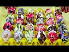 Ouå de Paste decorate cu servetele. - YouTube Paste, Easter Traditions, Handmade, Youtube, Easter Eggs, Napkins, Easter Activities, Projects, Hand Made