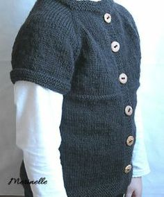 Top-down knitted cardican