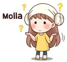 """I don't know"" It's used when you don't know the answer for a question. Anime Korea, Korean Anime, Korean Phrases, Korean Words, Pop Stickers, Kawaii Stickers, Chibi Kawaii, Anime Chibi, Cartoon Jokes"