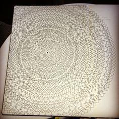 Geometric mandala took me about 2-3 days ❤️