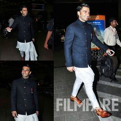Ranveer Singh was clicked at the airport last night leaving for Hyderabad. The actor was seen in formal attire as he had just attended an award function. Ranveer will be soon flying to Paris for his two month schedule for Befikre. Until then the actor is busy finishing his other work commitments. by #Filmfare. Shared by #BollywoodScope