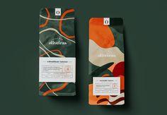 Vila das Oliveiras on Behance Food Packaging Design, Coffee Packaging, Coffee Branding, Packaging Design Inspiration, Branding Design, Cool Packaging, Lightroom, Photoshop, Design Package