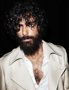 Paraskevas Boubourakas, Greek model, b. Greek Model, Bohemian Men, I Love Beards, Becoming A Model, Hair And Beard Styles, Hair Styles, Tumblr Fashion, Great Stories, Bearded Men