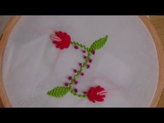 Hand Embroidery: Bullion Knot and Blanket Stitch (Flowers) - YouTube
