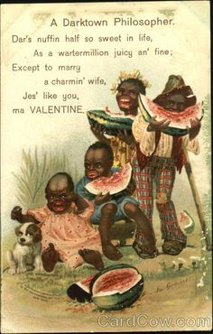 Divided Back Postcard A Darktown Philosopher Black Americana Vintage Cards, Vintage Postcards, Old Ads, Vintage Valentines, African American History, History Facts, Black Art, Vintage Advertisements, Black