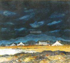 Panter & Hall: Gordon  Wyllie RSW (1930-2005): Three Gables