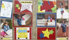 Cheerful School Photo Album Accent Scrapbook Page Ideas