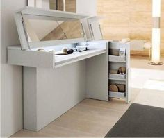 dressing table that you just fold over to hide all your crap <3