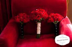 Wedding Flowers - Red Roses Bouquet http://michelleguzmanweddings.com/