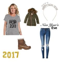 """""""NEW YEAR"""" by maggierose77 ❤ liked on Polyvore featuring WithChic, Steve Madden and Hollister Co."""